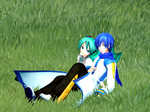 [MMD] Miku and Kaito Sitting on Grass