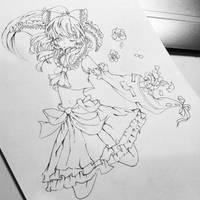 Hakurei Reimu Lineart -WIP-