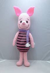 Piglet with his winter scarf