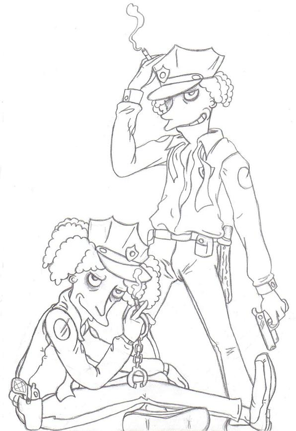 Sexy Springfield Cops sketch by JadePlanet