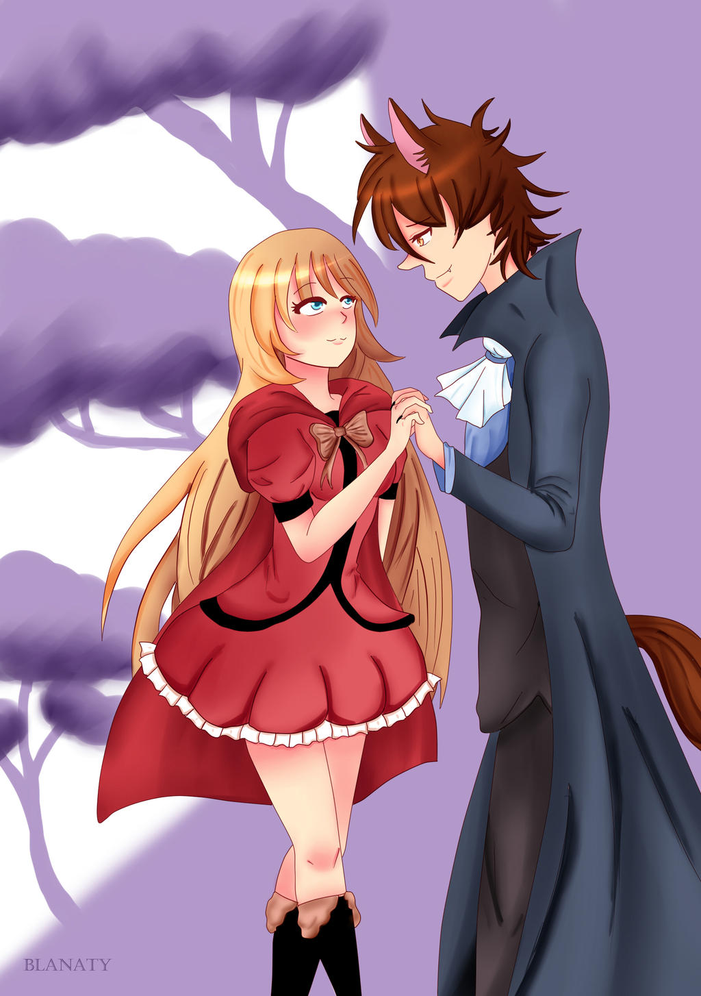 Little red riding hood and wolf anime gallery the wolf and little red riding hood by blanaty on deviantart sciox Choice Image