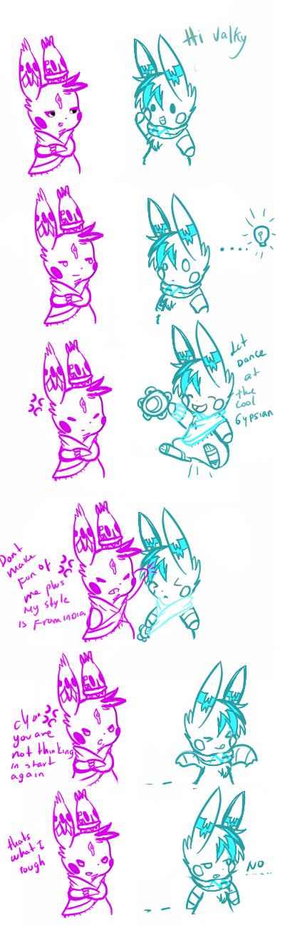 cyan power tales 7: lesson color violet by Pikachim-Michi
