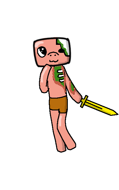 minecraft zombie pigman coloring pages - chibi zombie pigman by pickleplayer on deviantart