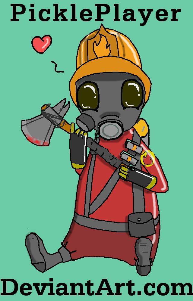 Tf2 Pyro Sprays Chibi Tf2 Pyro by Pickleplayer