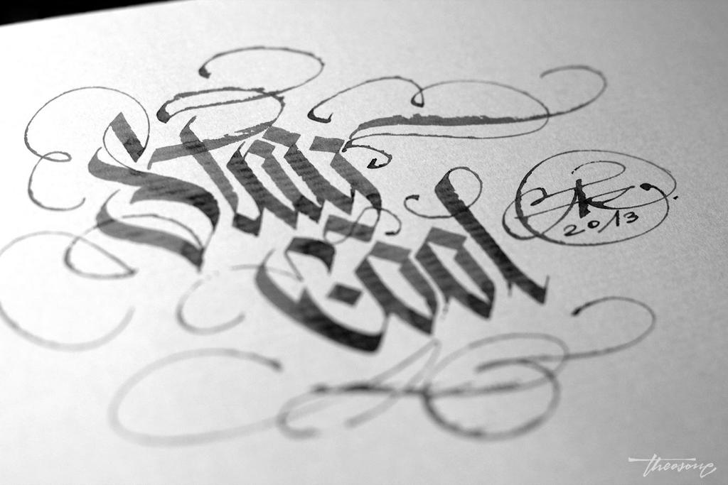 Stay cool calligraphy theosone by calligraphymasters on