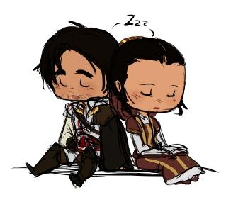 Ezio + Claudia - zzz by rabbitzoro