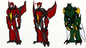 Prime redesigns - Terrorsaur and Waspinator