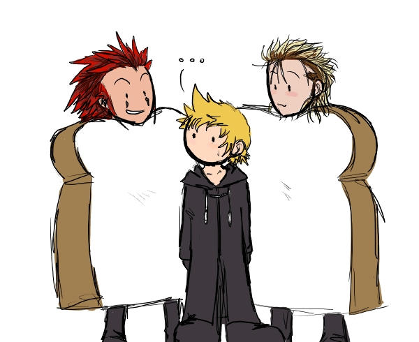 Axel, Roxas, and Demyx 2 by rabbitzoro