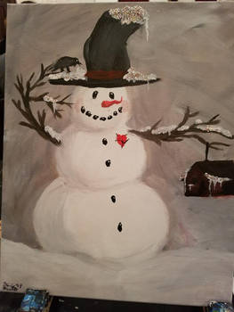 Snowman painting