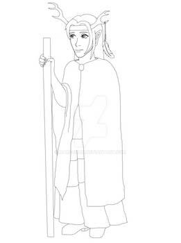 Half-elf Druid (WIP)