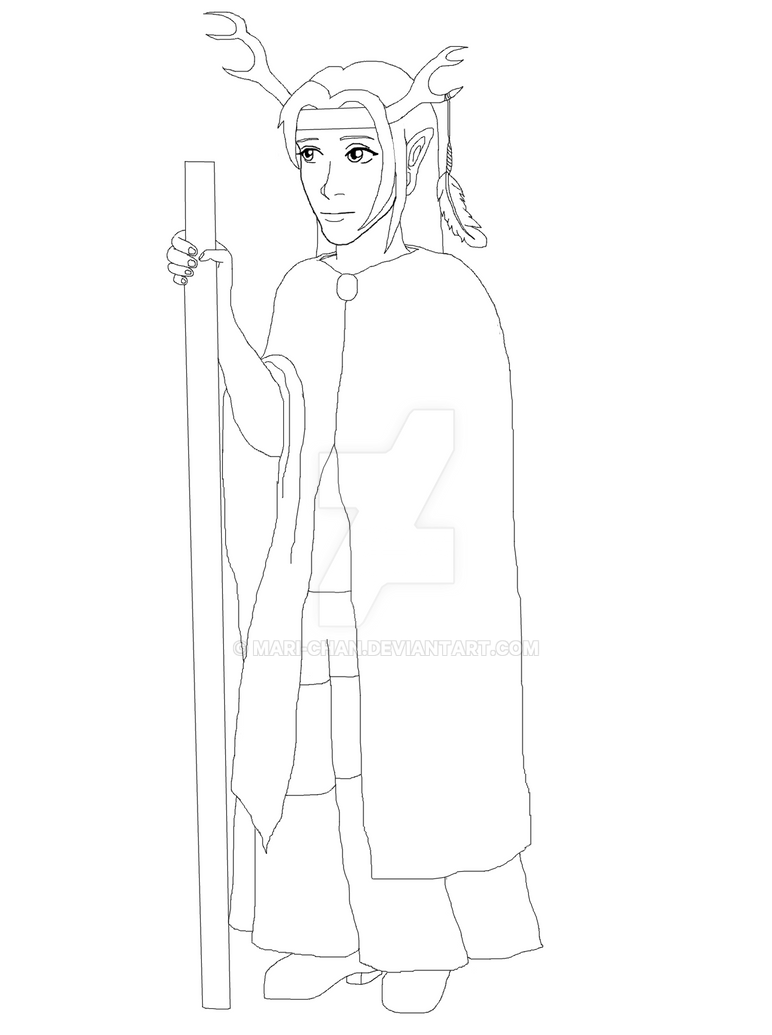 Half-elf Druid (WIP) by mari-chan