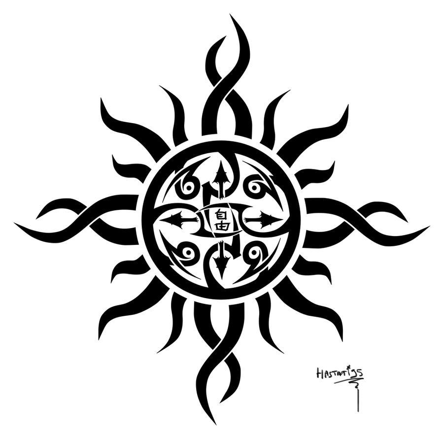 Tattoo 2 tribal sun by hastati95 on deviantart for Sun tribal tattoos