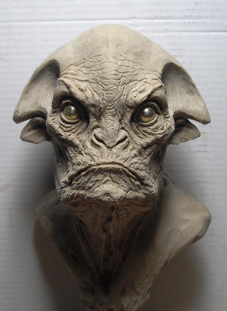 Alien clay sketch by boularis on deviantart
