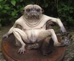 pug creature painted cast