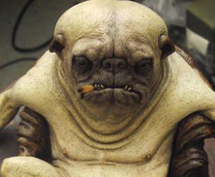 pug creature close up by BOULARIS
