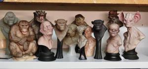 resin castings line up.