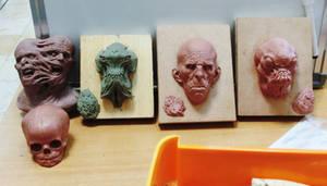 Group shot of mini sculpts