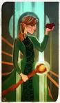 Dragon Age Companion Card: Clarisa Surana by FlockofFlamingos