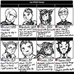 FFXIV: XIA Raid Meme by FlockofFlamingos