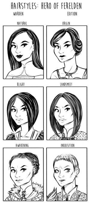 Dragon Age Origins Hairstyles: Miyako Amell