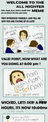 All Nighter Meme by blckxwngxdragon