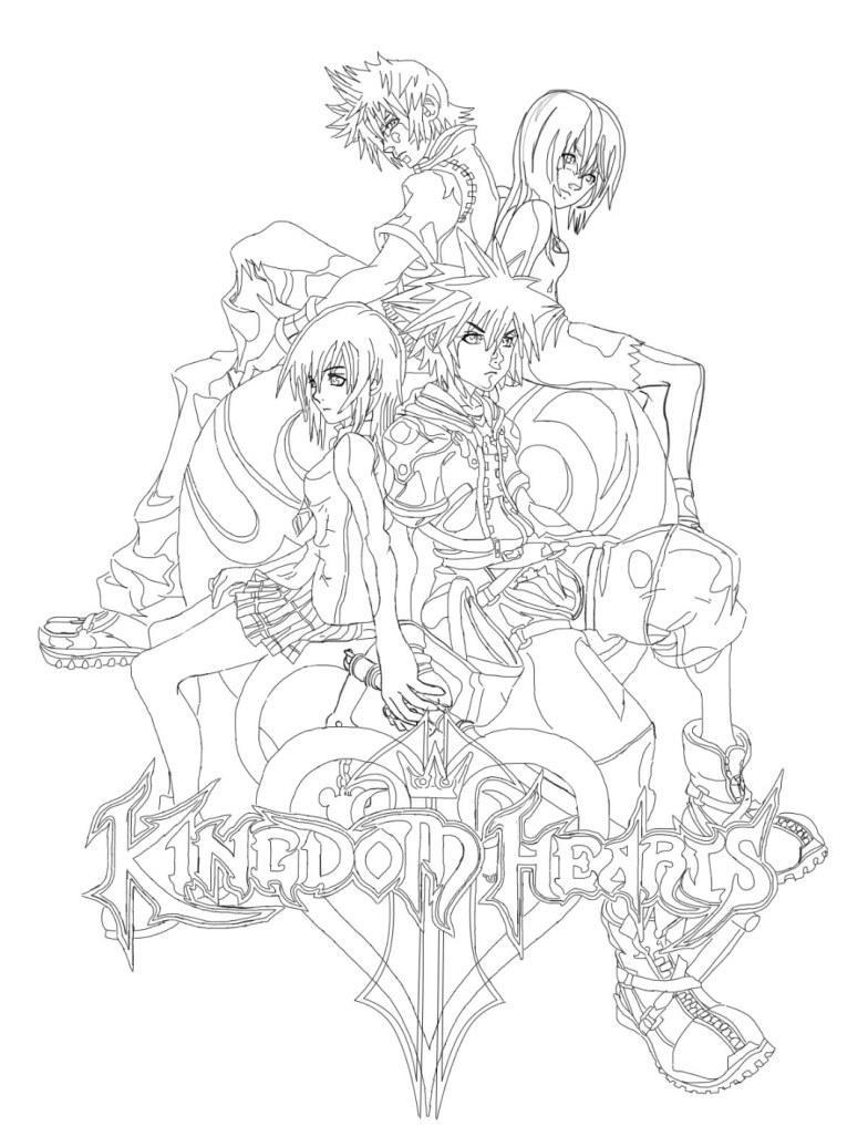 Kingdom Hearts Lineart : Kingdom hearts ii line art by blckxwngxdragon on deviantart