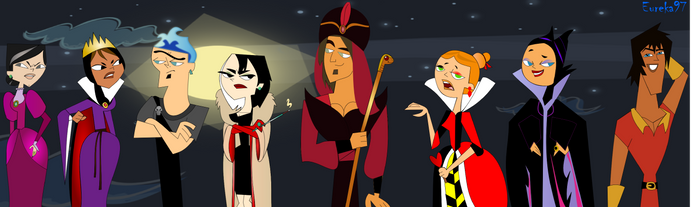 Disney and Total Drama Villains by Eureka97