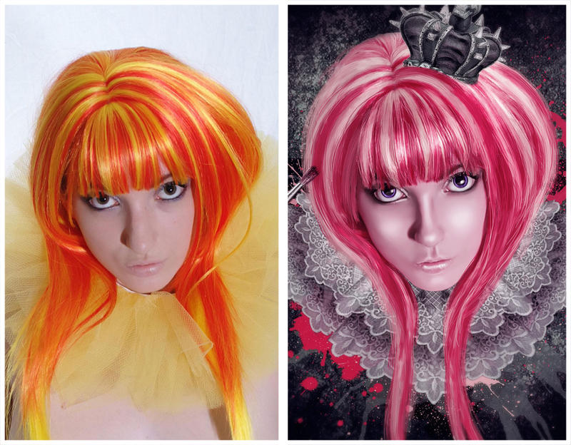 tickled pink before and after by MelanieMaterne