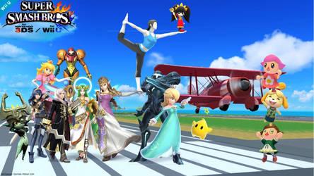 Super Smash Bros 4 (Smash Females)