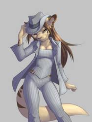 DevilKitten (DeeKay) in a Pinstripe Suit by YamiPea