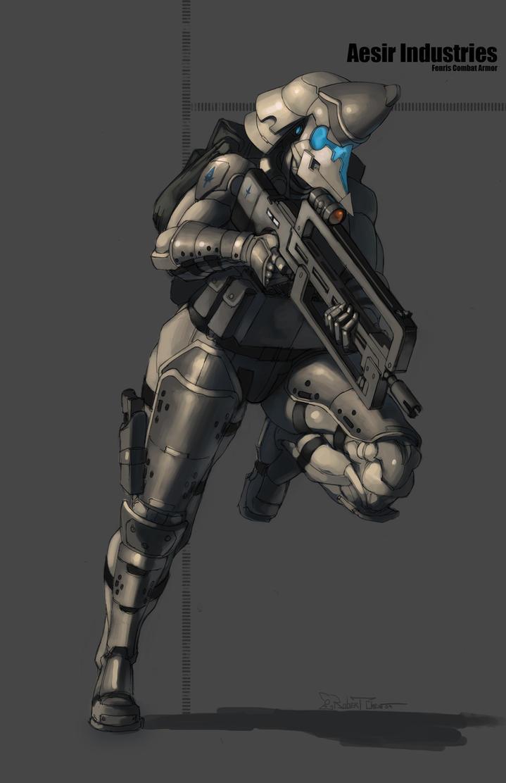 Fenris combat armor by CrazyAsian1