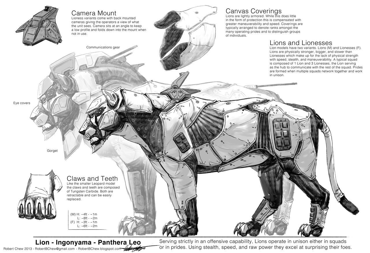 Mecha Lion Breakdown by CrazyAsian1
