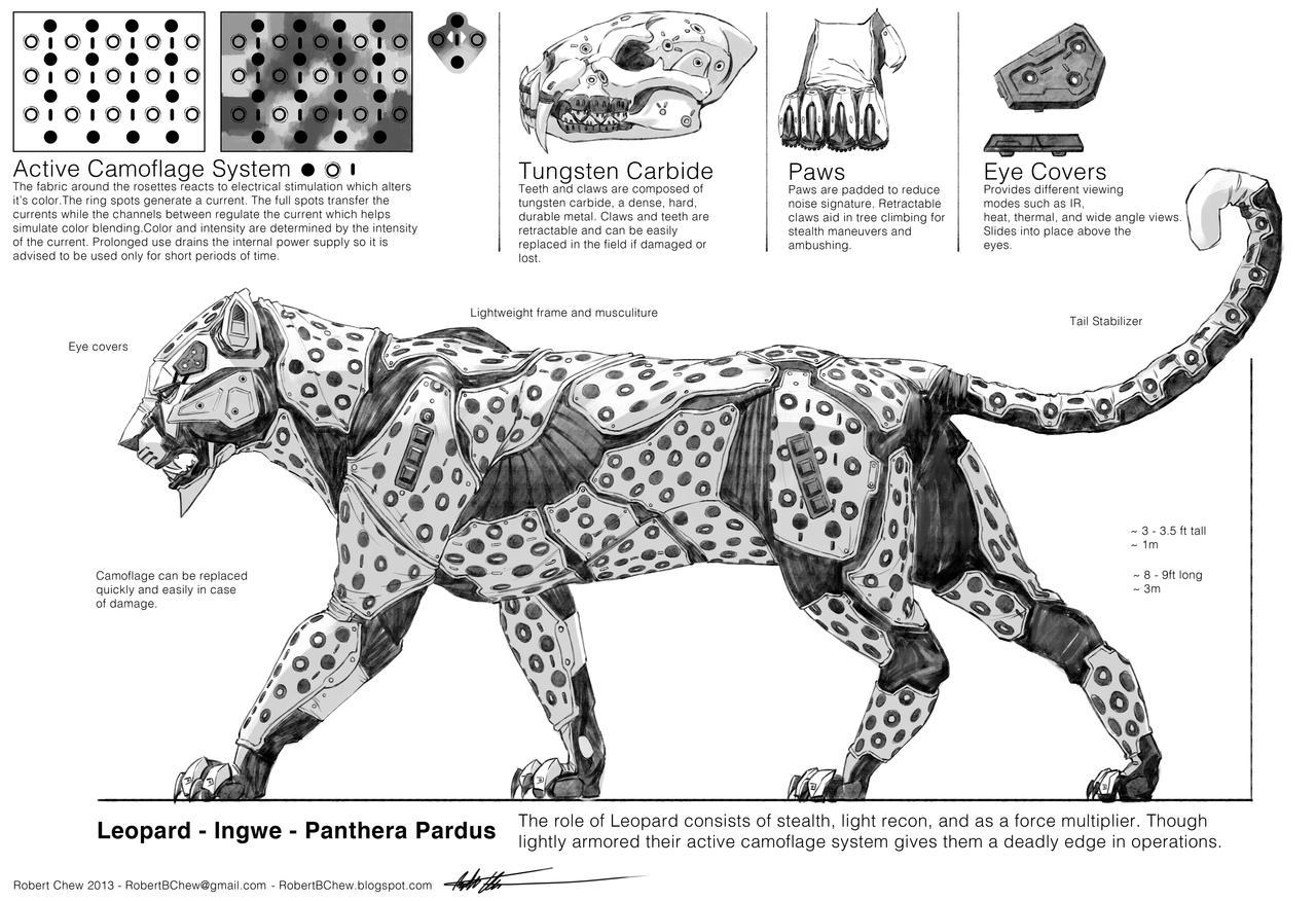 Deviantart Robot Animals: Mecha Leopard Breakdown By CrazyAsian1 On DeviantArt