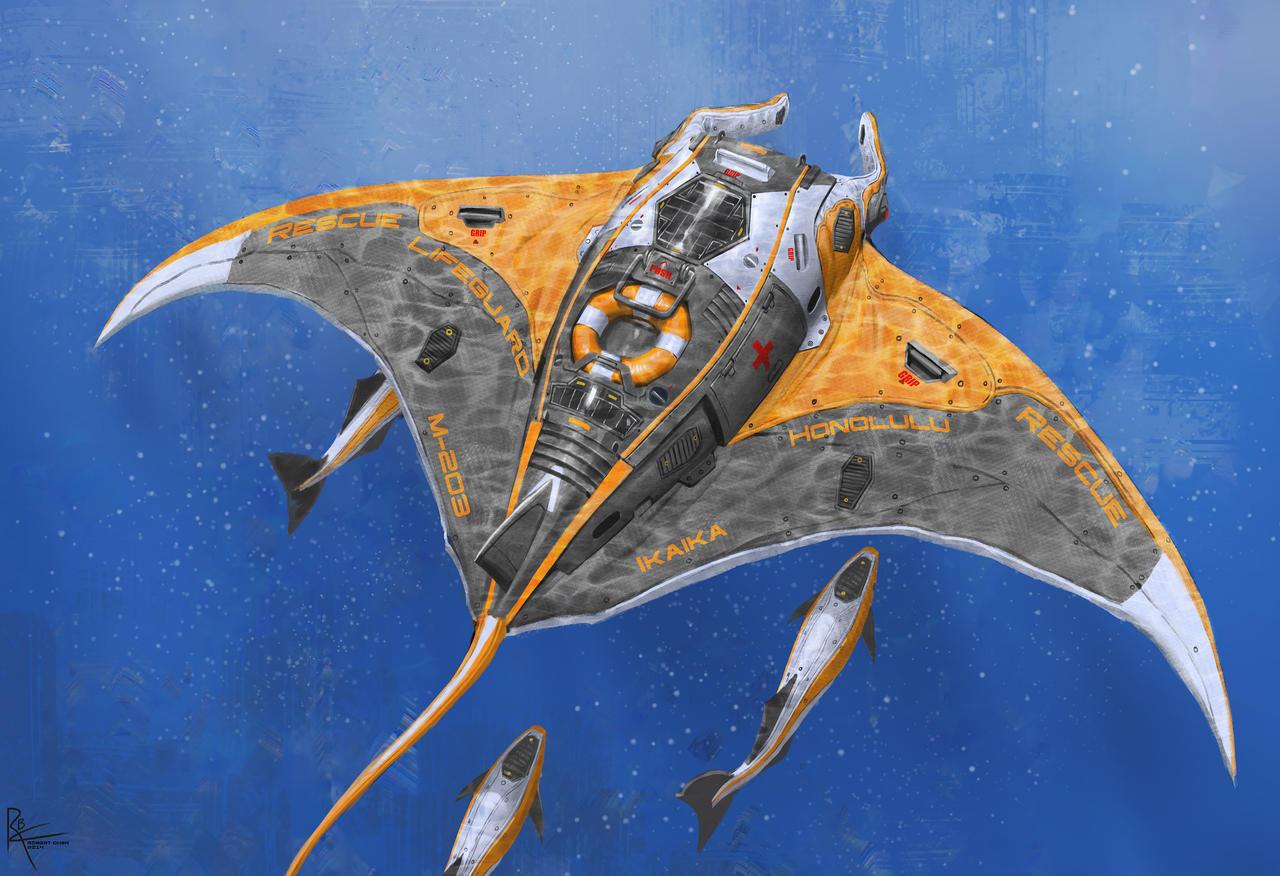 Manta Rescue Drone by CrazyAsian1