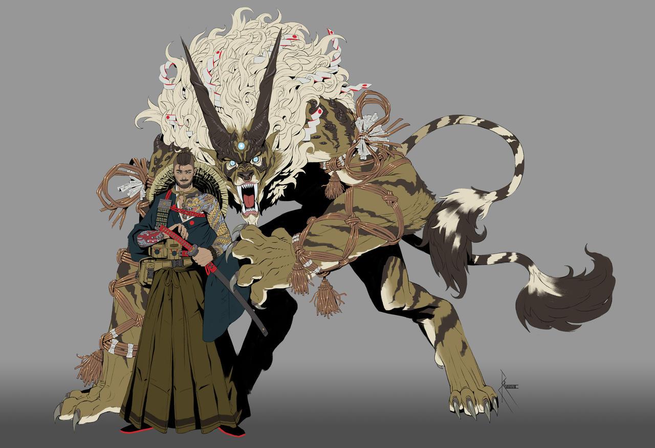Shikigami Raiju Samurai By Crazyasian1 On Deviantart Tão forte e altiva que amedronta o ser humano em. shikigami raiju samurai by