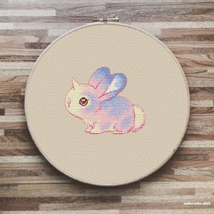 Junicorn Bunny cross stitch Free Pattern