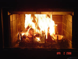 Fireplace Fire by BVicius