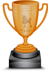 3rd Canine Place Trophy by BVicius