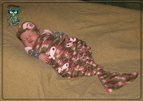 Crochet Newborn Mermaid Costume