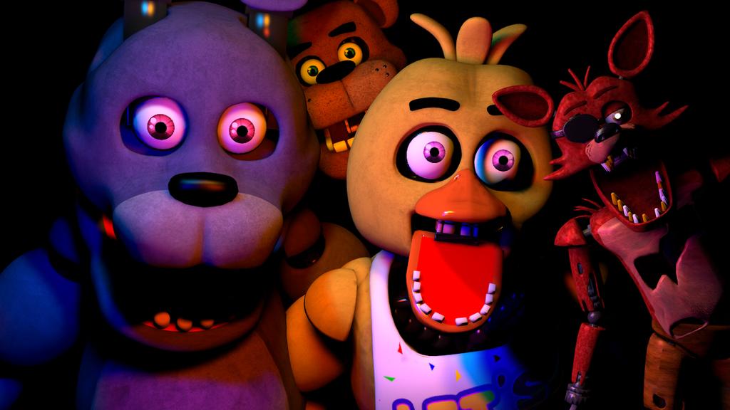 Plushtrap vs Nightmare Freddy Bonnie Chica Foxy Fredbear