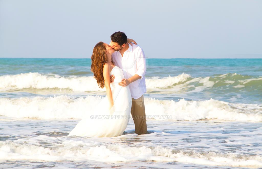 wedding couple at sea by Sadalmelek