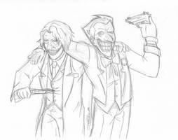 Batman - Laugh A Little-sketch by JadeRaven93