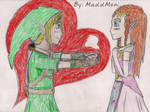 Link and Zelda V-Day