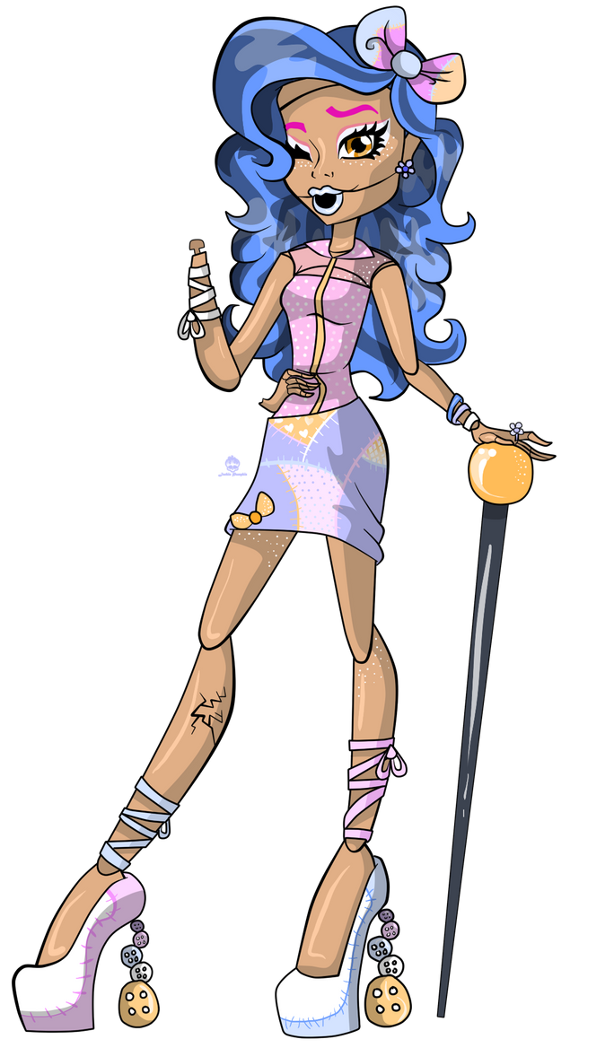 Dolly Buttons Monster High OC By Misskitkatmadness On