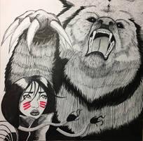 Danielle Moonstar Demon Bear - New Mutants  by Ehaw09