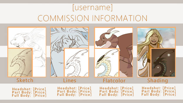 Commission Sheet Template - Progression format