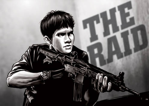 THE RAID  MOVIE FAN ART - IKO UWAIS by kevinandy