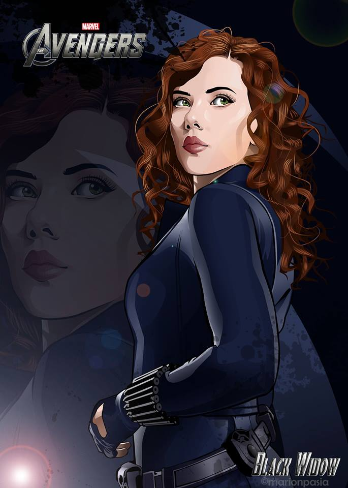 Black widow by marionpasia17