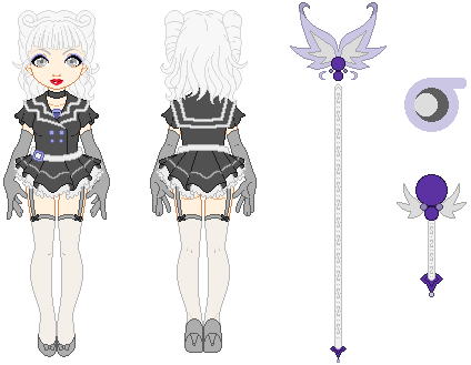 Sailor Silver Falcon Reference Sheet by merelei