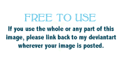 Free To Use Notice! by merelei